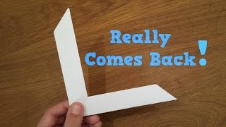 How To Make a Paper Boomerang - Origami