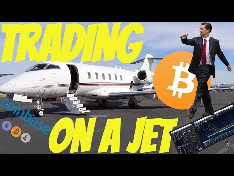 TRADING BITCOIN ON PRIVATE JET!!