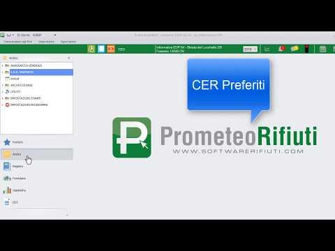 Software PrometeoRifiuti: Tutorial 'CER PReferiti' thumbnail
