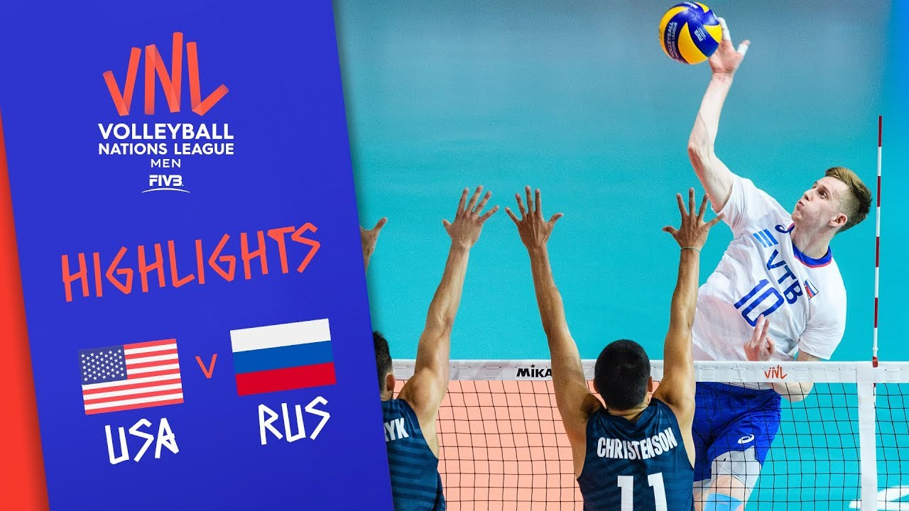 USA vs. RUSSIA - Highlights Men | Final Round | Volleyball Nations League 2019