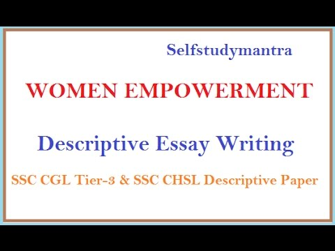 Compare And Contrast Essay Topic Ideas Women Empowerment  Essay For Ssc Cgl Tier  Descriptive Paper Essay Topic Road Safety also Great Gatsby Symbolism Essay Women Empowerment  Essay For Ssc Cgl Tier  Descriptive Paper  Youtube Self Awareness Essay