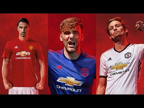adidas Manchester United Official Kit 2016/2017 (Home, Away, Third)