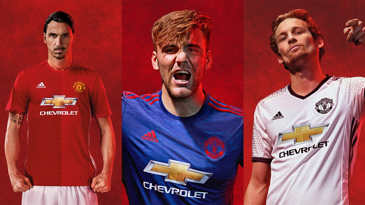 new arrival 7a15a 18524 adidas Manchester United Official Kit 2016/2017 (Home, Away, Third)