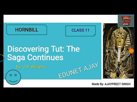 Discovering Tut: The Saga Continuos in Hindi | Class 11| English | Snapshots | CBSE | Edunet Ajay