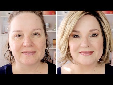 fullface makeup tutorial for mature women / neutral eyes