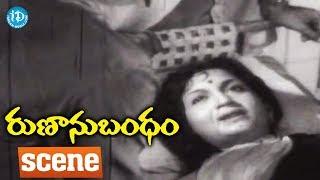 Runanu Bandham Movie Scenes - Suryakantham Asking Apology From Anjali Devi || ANR || Girija