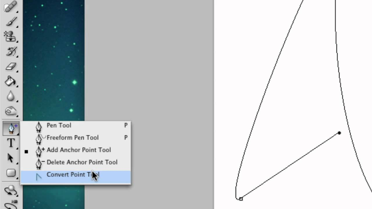 how to draw curved line on photoshop