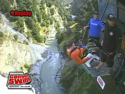 Swing Chair Over Canyon Oz Tent Shotover The Of Death Youtube