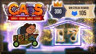 C.A.T.S. : Stage 17 - 300 Win Streak! | Crash Arena Turbo Stars