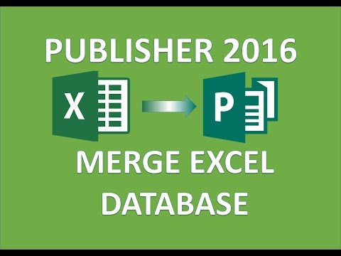 Publisher 2016 - Link Excel Database Tutorial - How To Link & Merge Sheet In MS Microsoft Office 365