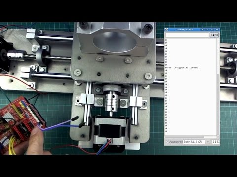 DIY mini CNC machine part 4 (testing movement)