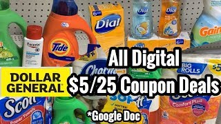 Dollar General | ALL DIGITAL $5 Off $25 Couponing Deals | 4 Breakdowns