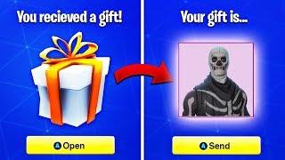 Win a Skin (Giveaway) - Verschenken in Fortnite
