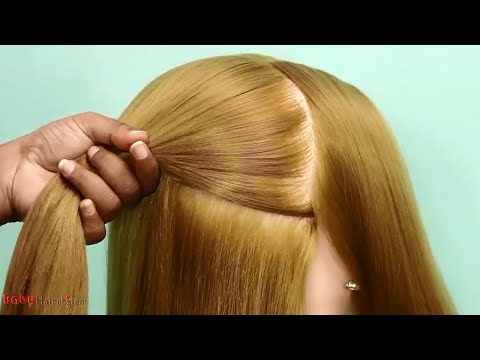 very-easy-french-bun-hairstyle-with-trick-|-french-roll,-french-twist-hairstyle-|-cute-hairstyles