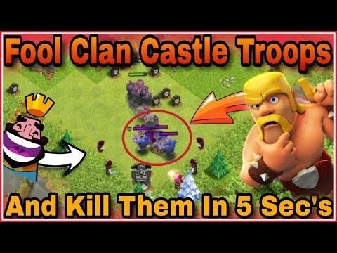 How To FOOL Clan Castle TROOPS And KILL Them In 5(Five) Sec's | Best Strategy | Clash Of Clans HINDI