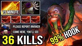PUDGE MID IS BACK!!! 15Min Radiance + Marvelous 99% Predict Hook 36Kills Crazy Raid Boss DotA 2