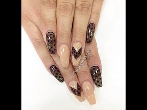 Nail art tutorial effetto calza velata