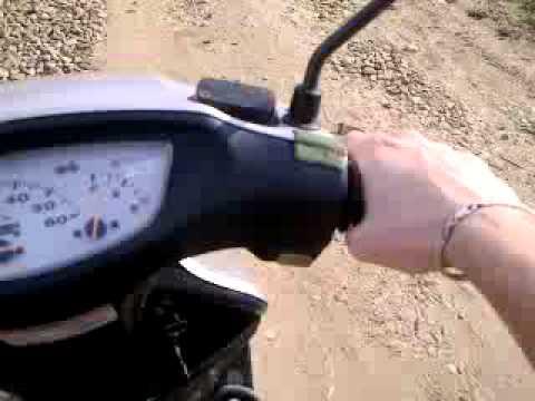 когда даёшь газу глохнет скутер honda 18