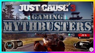 Gaming Mythbusters Just Cause 3 Myths - Underwater Mechs, Go to Space and more! Episode 8