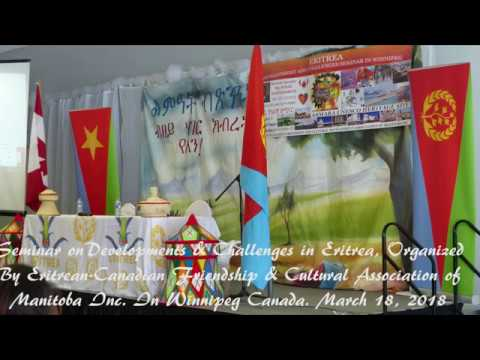 Seminar On Development And Challenges In Eritrea, March18/2018