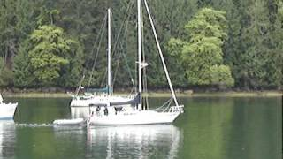 Sail boat Leaving Tod Inlet
