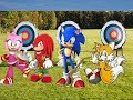 Sonic,Tails,Amy, and Knuckles play Mario and Sonic at the Olympic Games Archery Event