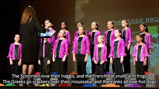 Adorable choir sings the AUSSIE BBQ SONG, so come along mate SING ALONG, let's have a Barbecue! 🇦🇺