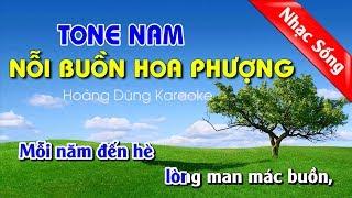 Nỗi Buồn Hoa Phượng Karaoke Nhạc Sống Tone Nam