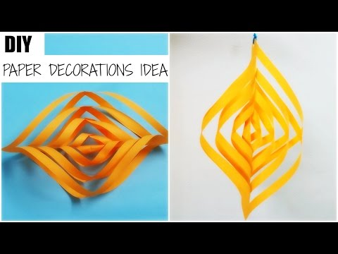 How to make Easy Paper decoration idea