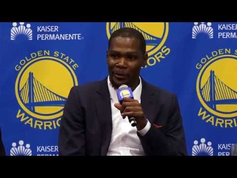Warriors Introduce Kevin Durant