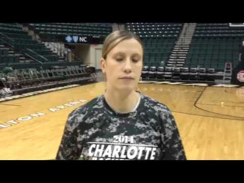 2e21a11b3cd Charlotte 49ers women's basketball Cara Consuegra looks ahe - YouTube