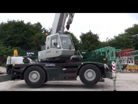 kato 25 ton city crane set up and driving at rivertek services ltd rh youtube com Kato Truck Xcmg Cranes