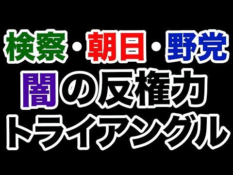 #396 【検察の闇】特捜は朝日・野党とズブズブ!?