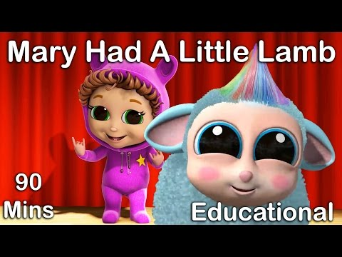 Mary Had a Little Lamb | Nursery Rhymes | Educational Songs for Kids