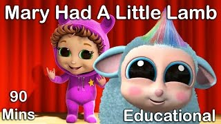 🐑 Mary Had a Little Lamb | Nursery Rhymes | Educational Songs for Kids