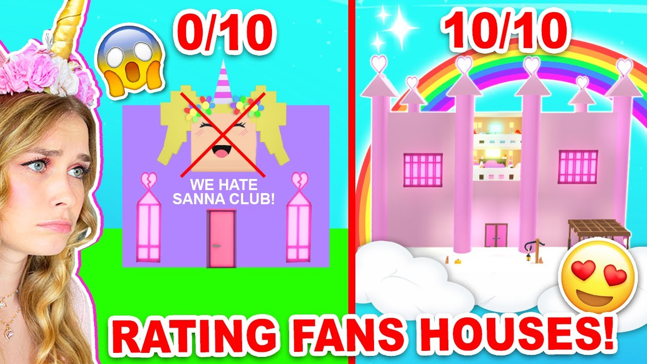 Rating The WORST To BEST FAN HOUSES In Adopt Me! (Roblox)