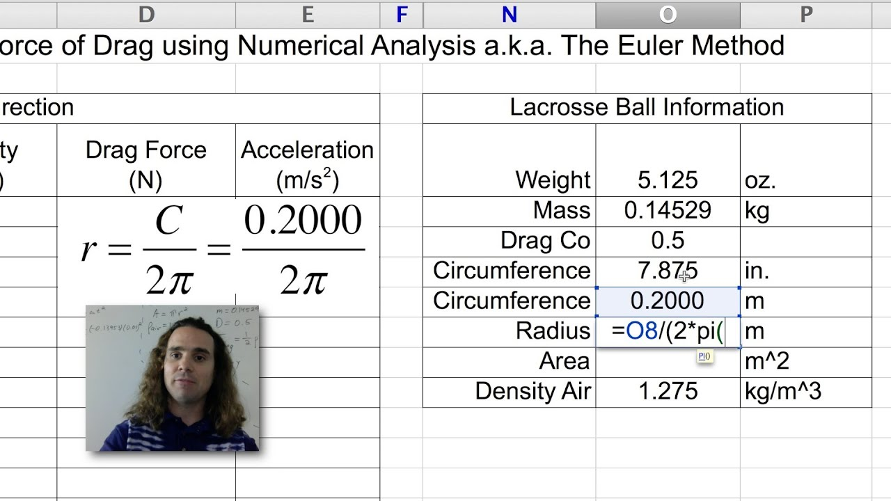 A Brief Look at the Force of Drag using Numerical Modeling (or The Euler  Method)