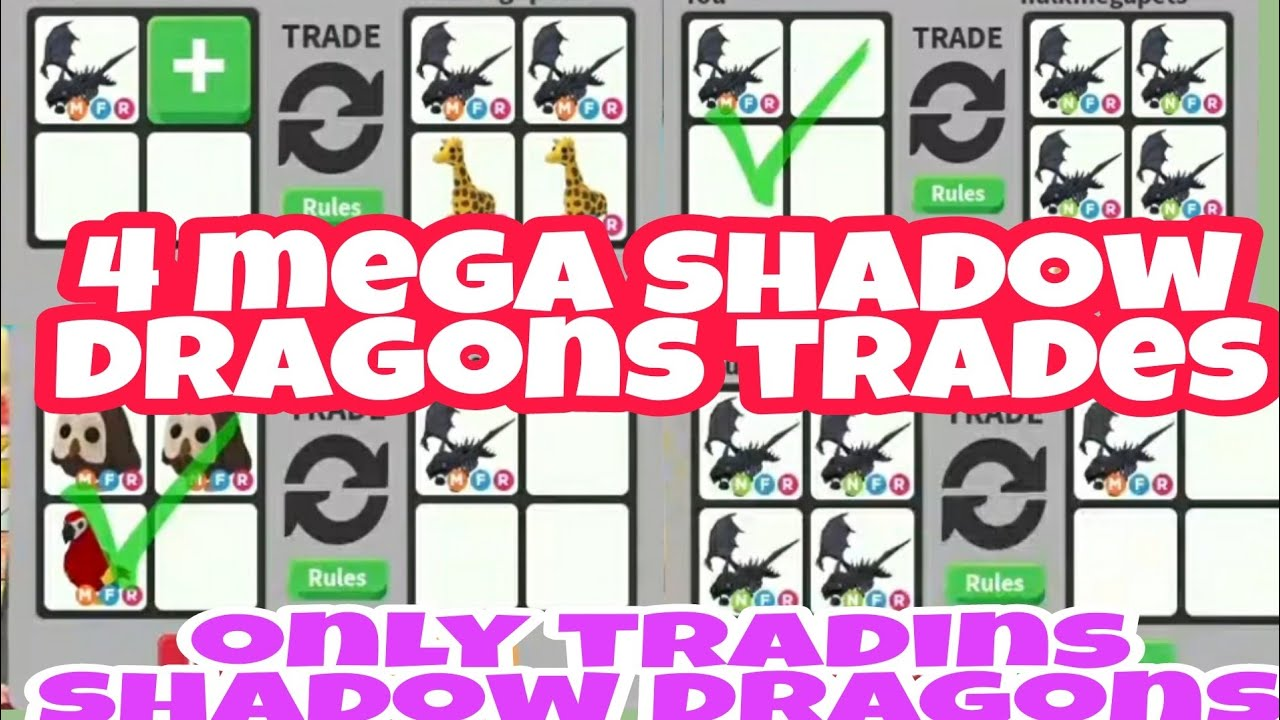 Only Trading Neon And Mega Neon Shadow Dragons In Adopt Me Trading