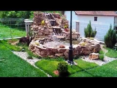 Fontana od prirodnog kamena.