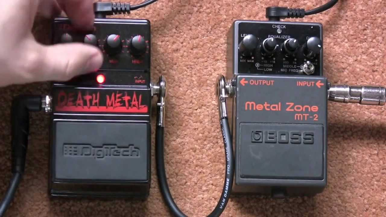 boss metal zone vs digitech death metal distortion pedal shootout youtube. Black Bedroom Furniture Sets. Home Design Ideas
