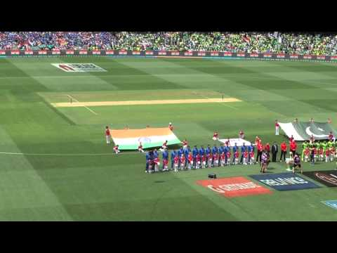 Jana Gana Mana at the Adelaide Oval, Sunday 15-Feb-2015