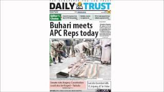 Nigerian Newspaper Headlines -27th July 2015- Buhari to intervene in NASS crisis