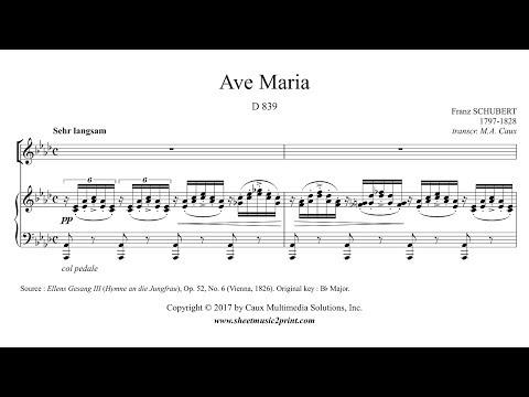 Schubert : Ave Maria - A flat Major