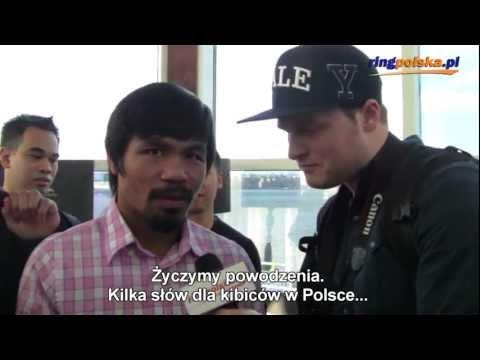Manny Pacquiao - migawka z konferencji prasowej przed walką z Timothy Bradleyem