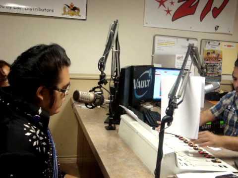 Laredo's Own Elvis Imprsonator being Interviewed With El Mananero El Danny Boy in Z93