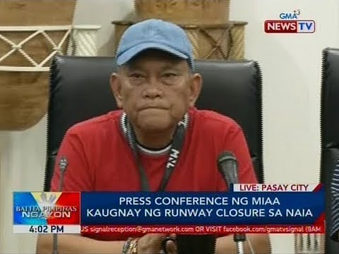 BP: Press conference ng MIAA kaugnay ng runway closure sa NAIA