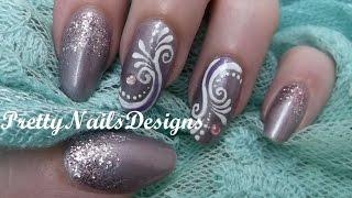Frosty Arabesque Nail Art