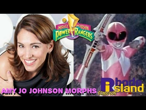 """Amy Jo Johnson - The Pink Ranger """"Morphs"""" at Rhode Island Comic Con with Clare Kramer!"""