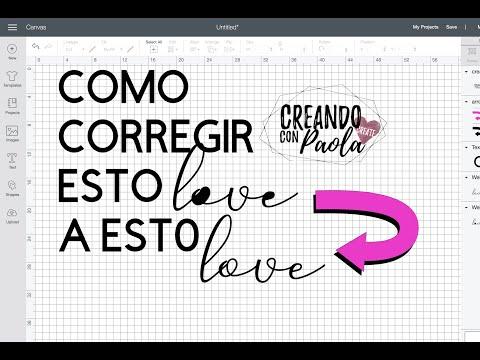 Como corregir letras solidas en Cricut Design Space *mucha información*
