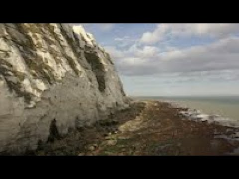 A Little Beach Next To Samphire Hoe Under The Cliffs Of Dover
